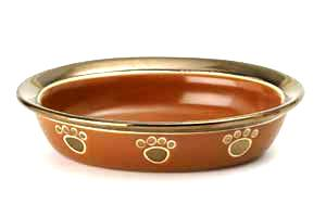 Napa Copper Keramikksk�l - oval